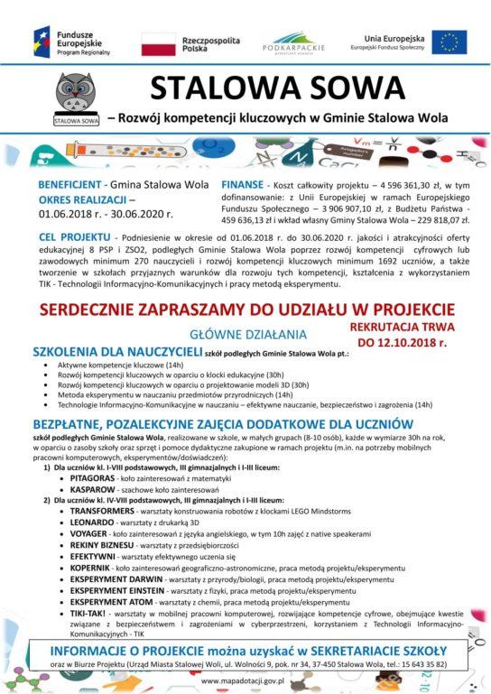 Plakat Stalowa Sowa